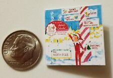 Miniature dollhouse Christmas Elf on Shelf  book Barbie 1/12 Scale accessories G