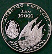 San Marino 1995 10000 Lire - Amerigo Vespucci - Proof DCAM