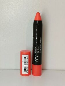 No 7 Matte Lip Crayon Shade Blazing Coral (Red/Pink) 2.5g Brand New Full Size