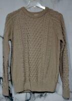 BLARNEY ARAN ORIGINALS NEW NWT Stone Wool Eoin Raglan Crew Neck Sweater Large