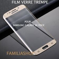 Tempered Glass Film Integral Total Curved Samsung Galaxy S6 Edge Gold