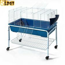 i.Pet 100cm Bunny Home Rabbit Guinea Pig Animal Cage Hutch Habitat Wheel Stand