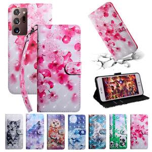 Schutz Hülle Für Samsung Galaxy Note 20& 20 Ultra Flip Case Wallet Tasche Motiv