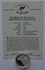 1994 Australia  Bird Wedge Tailed Eagle  $10 Dollar Silver Coin COA
