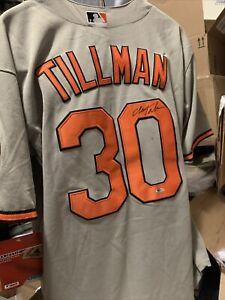 Chris Tillman Baltimore Orioles Signed Autographed Majestic Jersey size 50