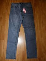 Neue DFND Herren Skinny Jeans Destroyed Ripped Röhrenjeans Gr W32/L30 Slim Fit