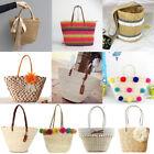 Women Ladies Straw Beach Shoulder Bag Summer Holiday Tote Shopping Handbag Tote