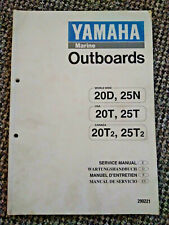 YAMAHA Service Owner's Manual Outboard Motor 20D 25N 20T 25T 20T2 25T2 20 25 HP