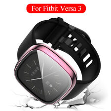 Tempered Glass Screen Protector Full Cover For Fitbit Versa 3 Smart Watch