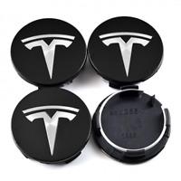 4x 57mm Tesla Nabendeckel Felgendeckel Nabenkappen Schwarz für Model 3/S/X