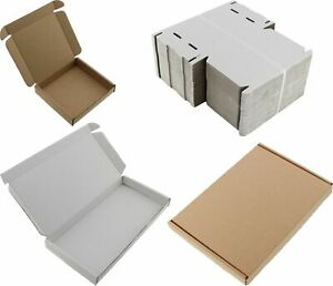 WHITE C6 A6 SIZE BOX LARGE LETTER STRONG CARDBOARD MAILING POSTAL PIP