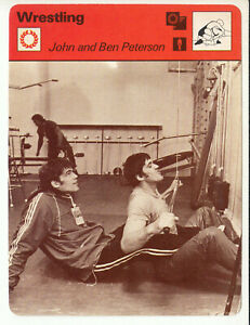JOHN and BEN PETERSON Freestyle Wrestling Olympics 1977 SPORTSCASTER CARD 10-11