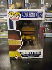 Funko Pop! Star Trek The Next Generation Geordi La Forge #192 With Pro 00004000 Tector!