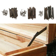 10x Wooden Jewelry Cabinet Box Chest Lid Display Support Stay Hinge Hardware