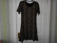 Originals, Dress, short sleeves, round neck, knee length, size 14
