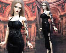 1/3 BJD outfit Iplehouse Female 62-65cm doll EID SID pu leather dress set
