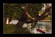 DR JIM STAMPS US FISHING CAMPING KINGS LANDING JOSEPH RIVER INDIANA POSTCARD
