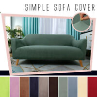 1/2/3/4 Seater Sofa Covers Easy Fit Stretch Protector Soft Polyester Couch Cover