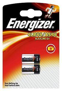 2 x ENERGIZER 4LR44 ALKALINE 6V BATTERY 476A PX28A A544