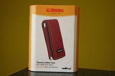 KRUSELL for Apple iPod Nano 1.gen e 2.gen guscio in pelle rosso 74117 nuovo/inutilizzato