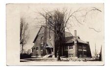 RPPC LUTHERAN CHURCH DAYTON IOWA IA Real Photo Postcard 1916 pm Reverend Lund
