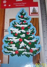 NIP Christmas TREE Paper Centerpiece Decoration  EASY TO ASSEMBLE