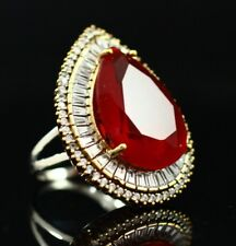 Turkish Handmade Jewelry Sterling Silver 925 Ruby Ladies Ring 7 8 9