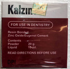 Kalzinol - Temporary Dental non-resin filling Cement Zinc Oxide/ Eugenol Base WH