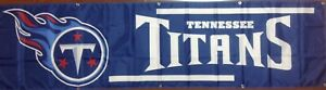 Tennessee Titans Banner 2'x8'  Ships Free And Quickly From N.C.