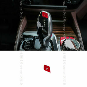 For BMW New 5 7 Series 6GT X3 X4 G30 Red 1* Gear Shift P Shift Button Cover Trim