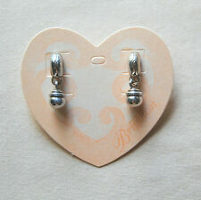 NEW on Card, silver BRIGHTON post & dangle earrings CALYPSO  w/ FREE SHIPPING !