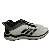Adidas Speed Trainer 4 CG5134 Turf Baseball Shoes White Black Men's Size 13
