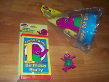Barney Dinosaur 1st Party Supplies 4pc Lot 1997 Unique Birthday Multi-color NOS