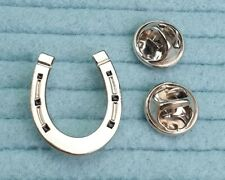 Horseshoe pin badge chrome plated metal. Horse Equestrian Wedding favour Lucky