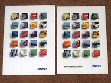 1997 FIAT RANGE Sales Brochure inc Barchetta Coupe Punto Cabrio & GT Cinquecento