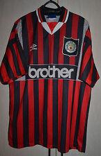 MANCHESTER CITY 1994/1995 AWAY FOOTBALL SHIRT JERSEY ENGLAND UMBRO VINTAGE