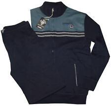TUTA UOMO felpa leggera M L XL XXL XXXL giacca aperta zip blu verde Be Board