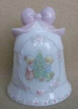 Enesco Precious Moments 1997 Porcelain Christmas Bell Figurine 4.5""