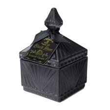 Alchemy Gothic Black Rose Small Square Glass Scented Candle Jar