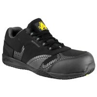 Amblers FS29C Black Waterproof Metal Free Non Leather Safety Trainer |6-12|