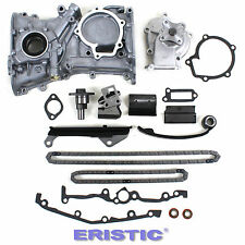 New Timing Chain Water Oil Pump Kit W/O Gear for 91-99 Nissan Sentra 1.6L GA16DE