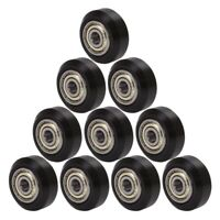 10Pcs Big Plastic Pulley Wheel with Bearing Idler Pulley Gear for 3D PrinterJ1X7