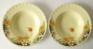 Two (2) Vintage Grindley 25cm bowls - Art Deco look - GR1478 - Lovely