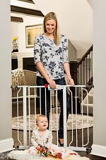 """NEW Regalo Easy Step Walk Thru Gate, White, Fits spaces between 29"""" and 39"""" Wide"""