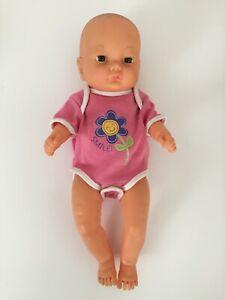 "1990's Newborn 14"" Baby Doll with one piece Romper"