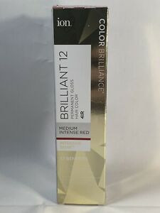 ION Brilliance Permanent Gloss Hair Color Brilliant 12 Medium Intense Red