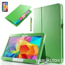 Leather Smart Case & Glass Screen Protector For Various Samsung Galaxy Tablets
