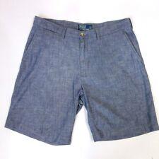 Polo Ralph Lauren Men's Prospect Short 9 inch inseam Size 34 Blue cotton