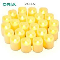 24pcs Flameless LED Candles Tea Lights Flickering Battery Operated Wedding Decor