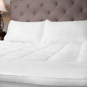 Hypoallergenic Polyester Down Alternative Fiber Bed Mattress Topper  4 Sizes